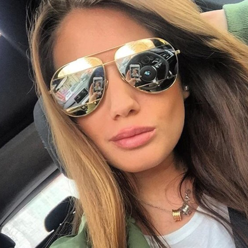2016 SPLIT Classic Women Sunglasses Fashion Female Brand Designer Mirror Patchwork Lenses Sun Glasses Ladies Sunglasses UV400(China (Mainland))