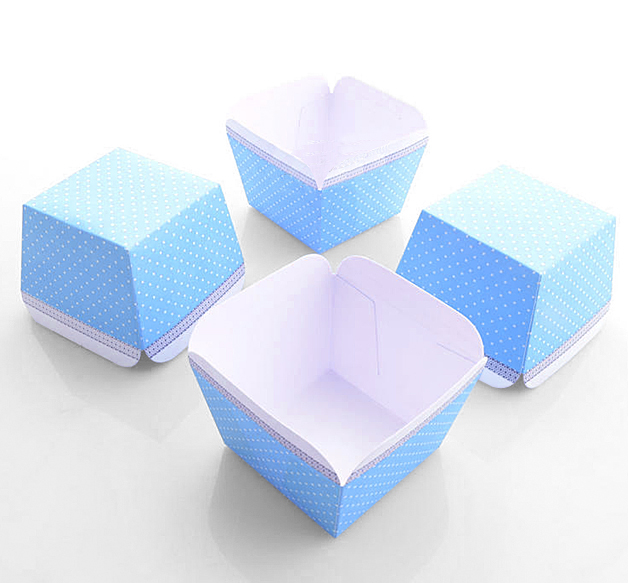 free shipping cheap cupcake boxes wholesale small blue dot muffin edible cake cup liners case. Black Bedroom Furniture Sets. Home Design Ideas