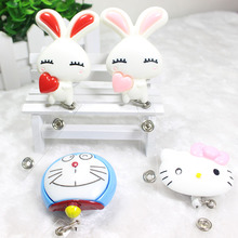 Large Size 60cm Cartoon Retractable Reel for Bus Credit Card Holder for Kids best gifts(China (Mainland))