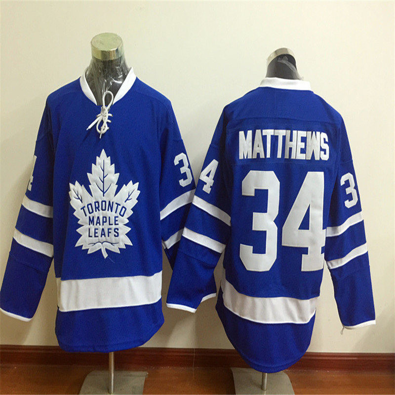 Men's 34 Auston Matthews Home Road Hockey Jerseys High Quality Stitched Name&Number Size M-3XL(China (Mainland))