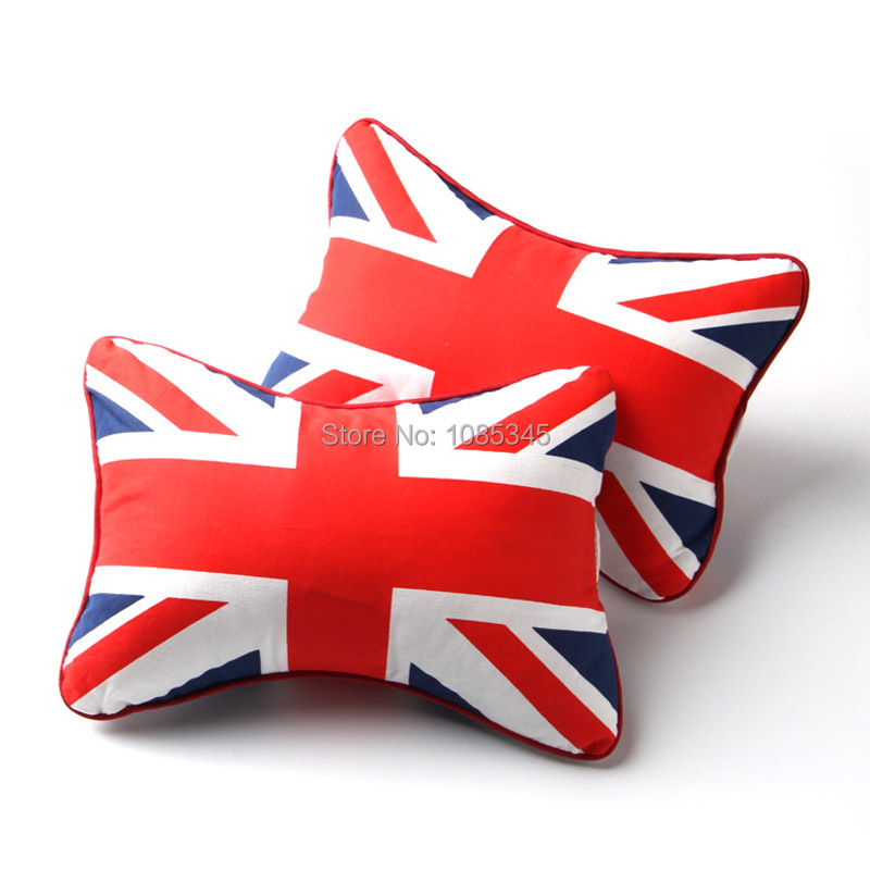 2016 Time-limited Limited Red Car Styling Headrest The Union Jack Head Pillow Case Pad Cover For Bmw Mini Clubman Countryman<br><br>Aliexpress