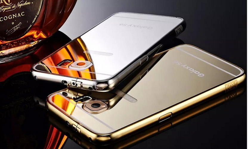 The new for Samsung S6 S6 edge arc metal frame cover mobile phone shell metal plating gold mirror tide(China (Mainland))