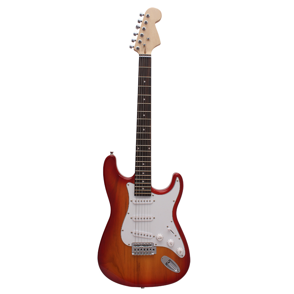 High Quality Single Tremolo Electric Guitar Solid Basswood Body Rosewood Fingerboard Steel String with Gig Bag Picks Strap(China (Mainland))