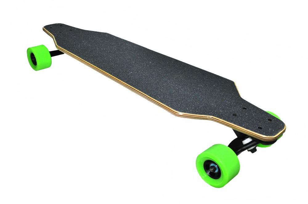 green wheels 1200w freestyle electric skateboard clear penny board skateboard mini cruiser long. Black Bedroom Furniture Sets. Home Design Ideas
