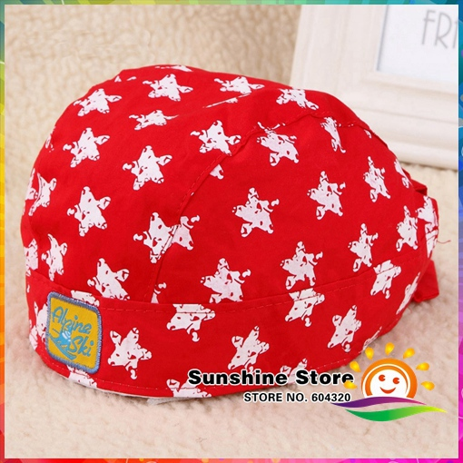 Sunshine store #8z009 9pcs/lot(4colors)lovely baby dipper beret hat children boy and girl cotton hat 5 kinds of colors to choose(China (Mainland))