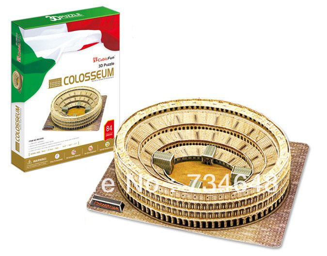 Creative DIY 3D Jigsaw Puzzle Model World Series - The Roman Colosseum(China (Mainland))