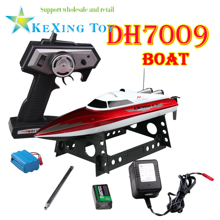 Free shipping DH7009 Stone remote control speed boat with servo / radio control speed boat / electric toy boat / children gift(China (Mainland))