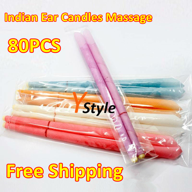 Free Shipping Ear Candles Cheap and High-Quality Indian Therapy/Medical Ear Candle Free Shipping Worldwide 80pcs 40 Pairs A Lot