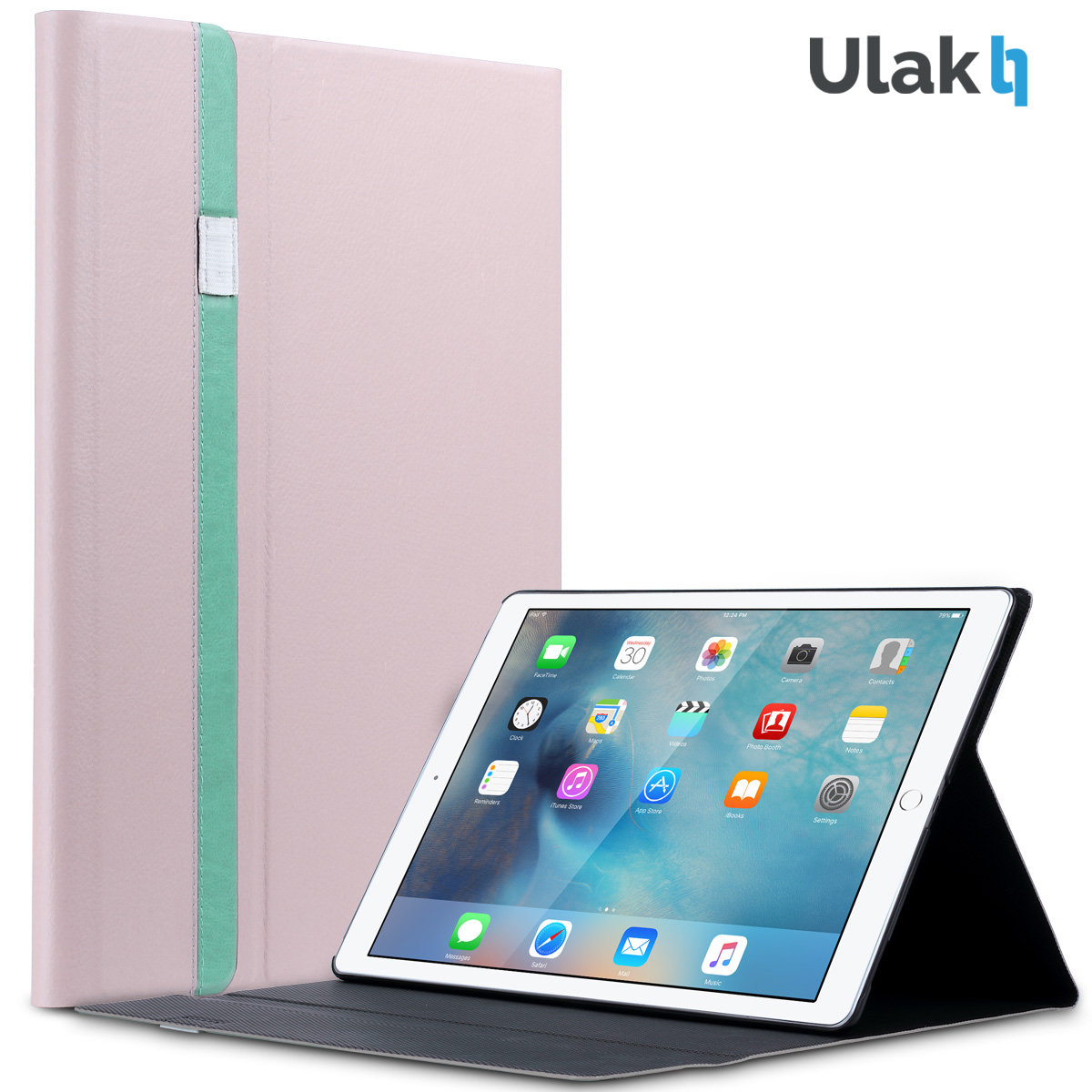 ULAK Ultra Slim Lightweight Folio Smart Stand Cover Auto Sleep/Wake Function Leather Case for Apple iPad Pro 12.9 inch (2015)(China (Mainland))