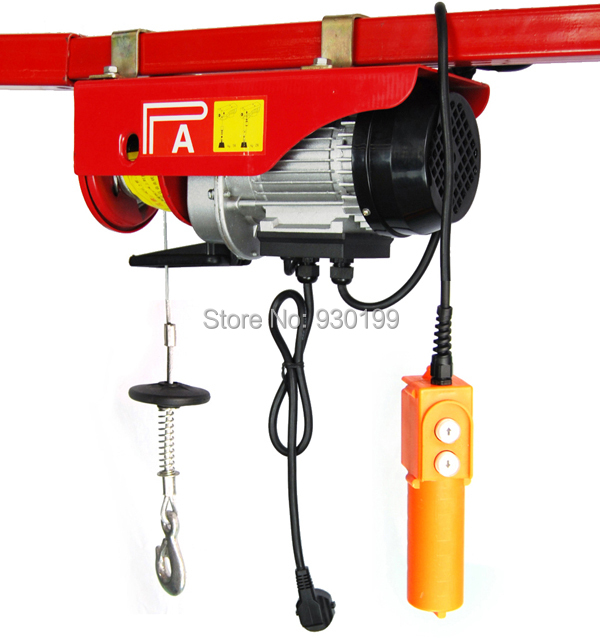 Electric Cable Hoist 110v : Lifting electric hoist winch with m cable kg