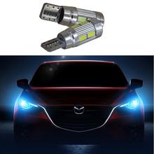2 X T10 LED W5W Car Auto Lamp 12V Light bulbs Projector Lens Mazda 3 Axela mazda 6 cx-5 cx5 cx 5 atenza Styling - zheng sa we store