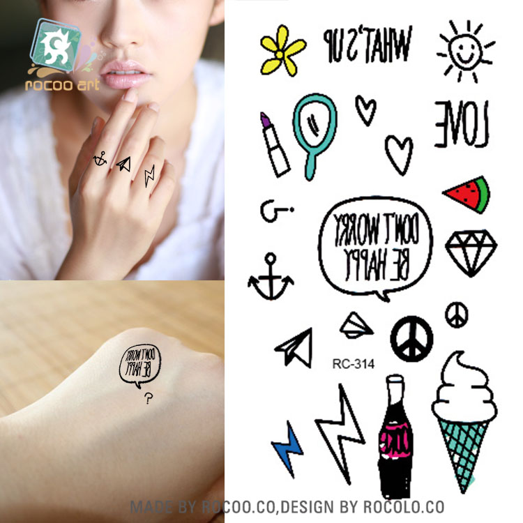 RC2314 Sexy Body Art Water Transfer Tattoo Decal Waterproof Temporary Tattoo Sticker Cartoon Kids Icecream Fake Tattoo(China (Mainland))