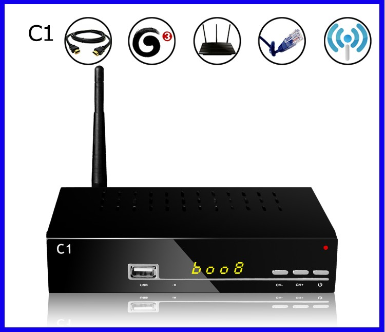 Latest For Singapore starhub cable TV Receiver Set Top Box Blackbox C1, for HD channels Build in WIFI(China (Mainland))