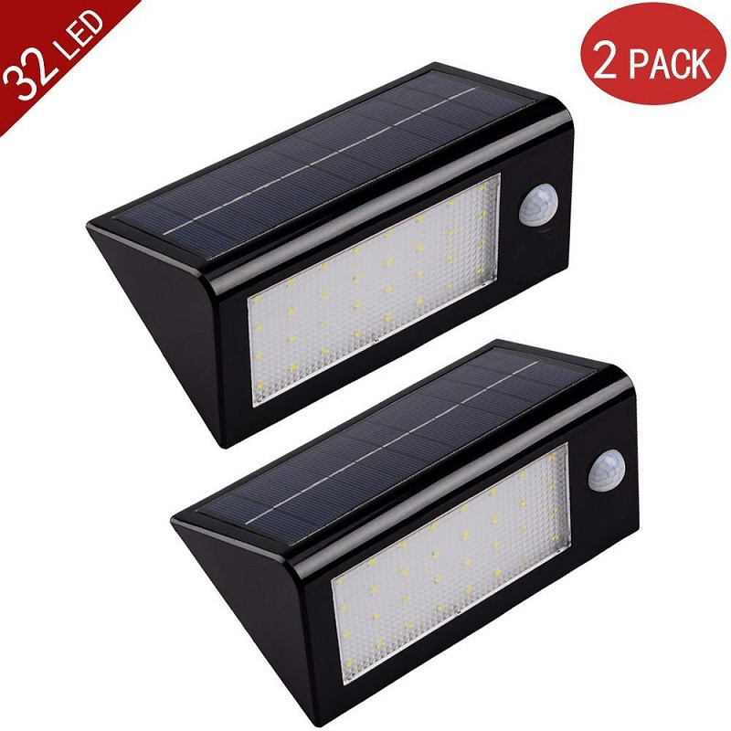 2pack lot ledertek 32 led 550 lumens ultra bright outdoor. Black Bedroom Furniture Sets. Home Design Ideas