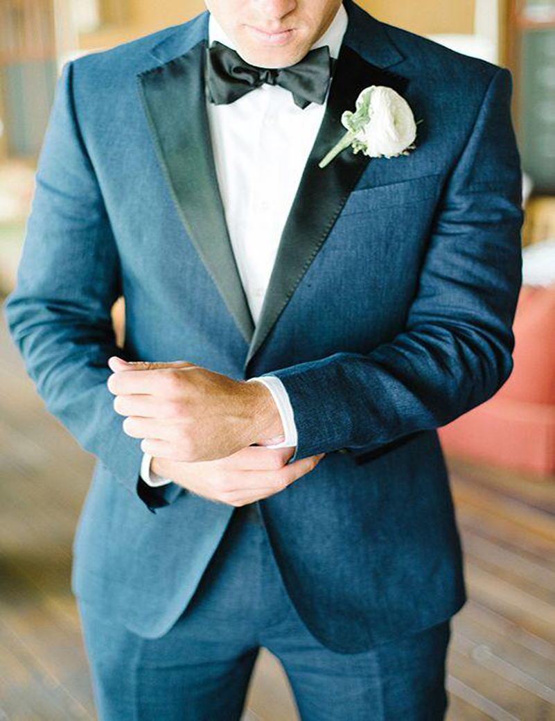 Hot Groom Tuxedos Fit Navy Blue Handsome Men Wedding Suits Cheap Bridegroom Groomsman Business Suit Notched Lapel (Jacket+Pants)Одежда и ак�е��уары<br><br><br>Aliexpress
