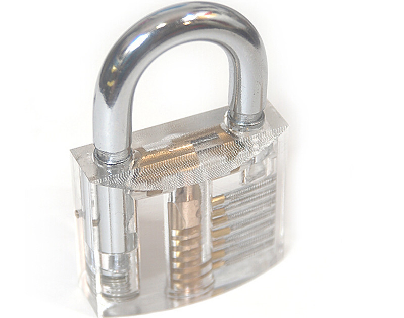 Transparent Lock Professional Visible Cutaway of Practice Padlocks Locksmith Tools Special Gift Toy