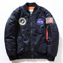 Bomber Jackets!!! NASA Air Force Embroidery Pilot Luxury Brand Jacket Thin Style US Army Men Baseball Military Coats