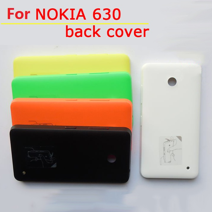 """Best quality back housing for Nokia lumia 630 635 4.5"""" Rear battery door cover cell phone Case with power button +1x screen film(China (Mainland))"""