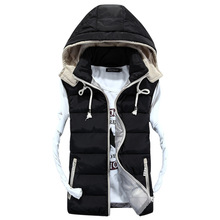 2015 Autumn Winter Casual Hooded Vest Men Colete Masculino Cotton-padded Waistcoat Comfortable Couples Sleeveless Jacket New(China (Mainland))