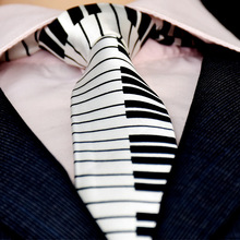 Korean Casual Fashion Personality Piano Motif Tie Moderator Nightclub Influx of People Must Polyester Filament 5cm Free shipping