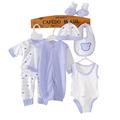 8PCS infant clothing 0 3Months tracksuit newborn baby boy clothes children Cotton suit new born