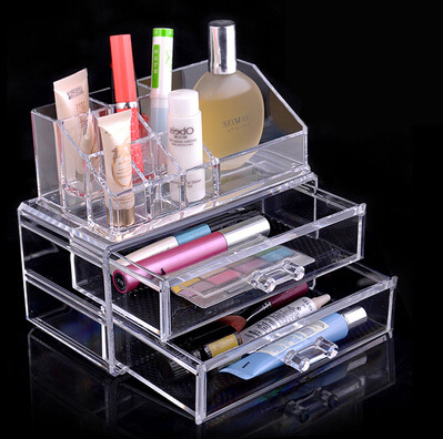 Storage Boxes & Bins jewelry makeup drawers acrylic clear make up organizer transparent box organizador gaveta caixa de acrilico(China (Mainland))