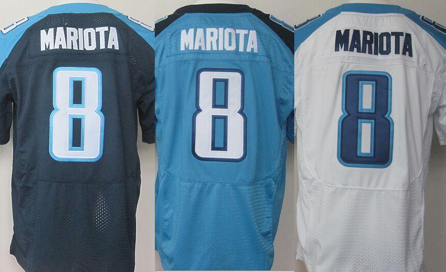 Marcus Mariota Jersey #8 titans elite stitching ,American Authentic Football Jersey 2015 new draft jersey(China (Mainland))