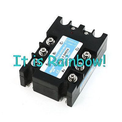 Free Shipping Black Retangle DC to AC 3 Phase Plastic Case Solid State Relay<br><br>Aliexpress