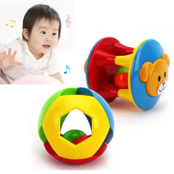 3 PCS/Set Baby Enlightment Hand Shake Bell Ring Plastic Music Baby Rattles Loud Coordination Early Education<br><br>Aliexpress