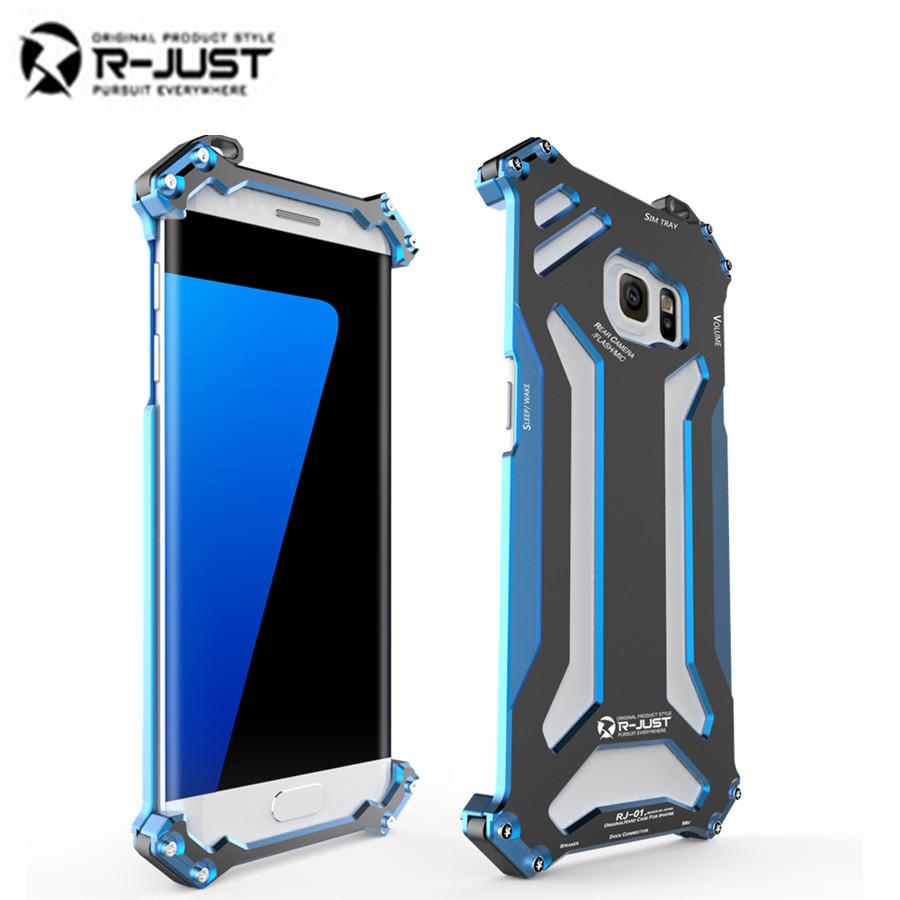 R-JUST Gundam S7 Edge Metal Case for SAMSUNG Galaxy S7& S7 Edge Brand Design Aluminum Armor Cover 360 Protective Phone Housing(China (Mainland))