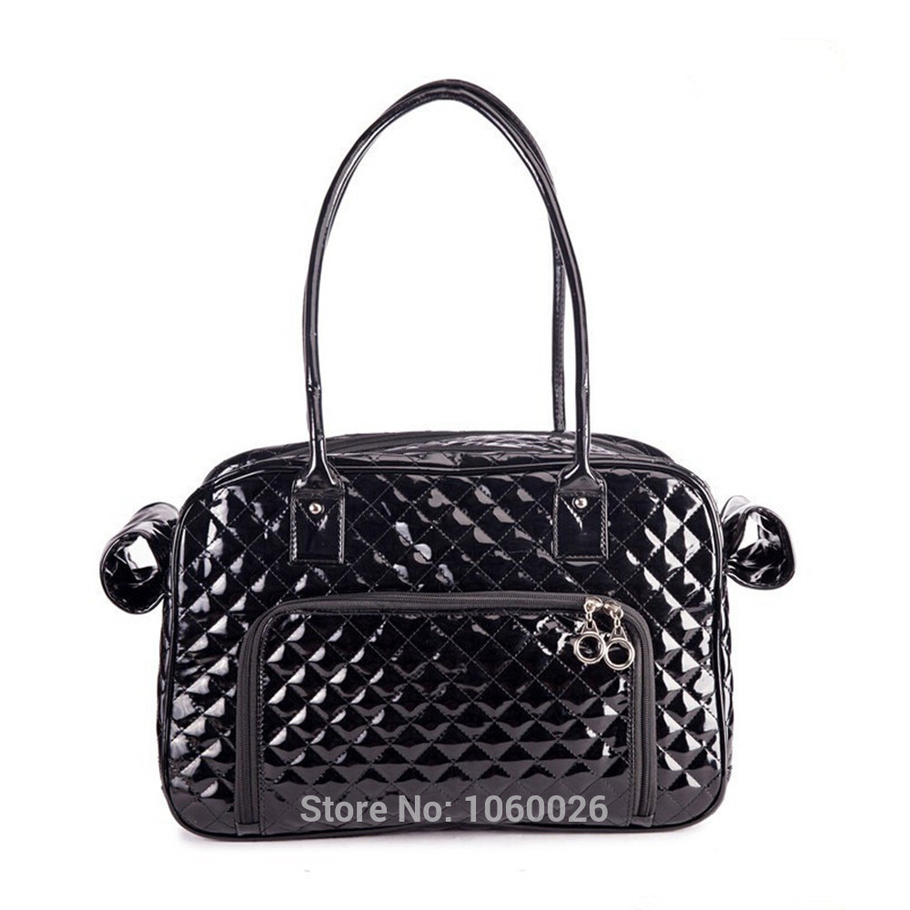 For cats pet supplies chihuahua dog carrier small black leather dog
