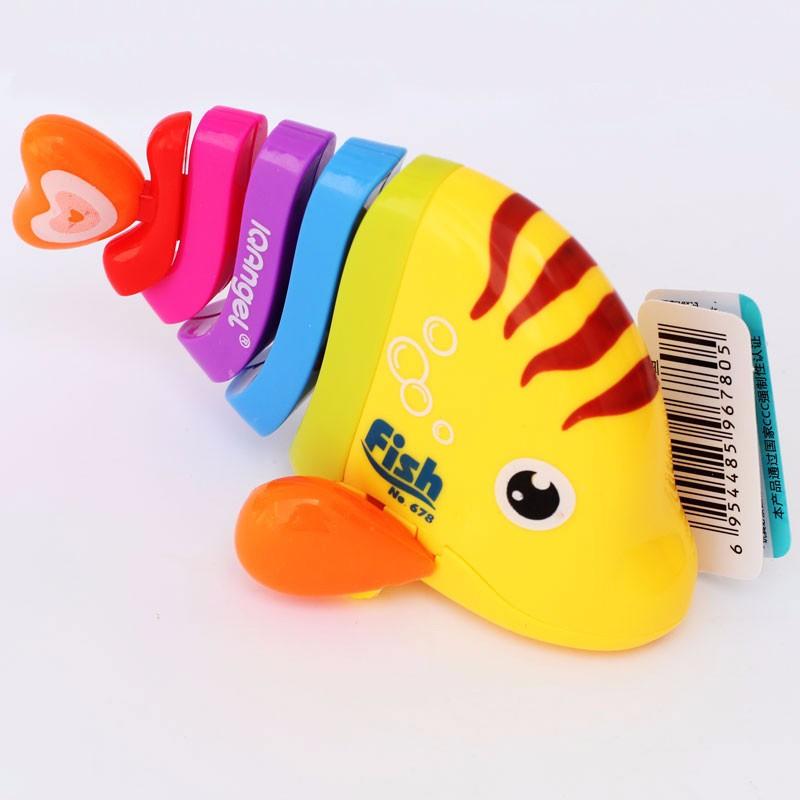 Funny Jumps Robofish Educational Preschool Baby Toys Mini Clockwork Swing Robo fish Environment friendly Plastics Wind up Toys(China (Mainland))