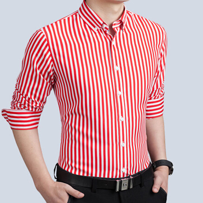 Casual Men\'s Striped Long Sleeves T-Shirt
