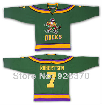 Ducks Of Anaheim Dwayne Robertson #7 Hockey Jerseys 1996-06 - Customized Jersey With Any Number, Any Name Sewn On (S-4XL)<br><br>Aliexpress