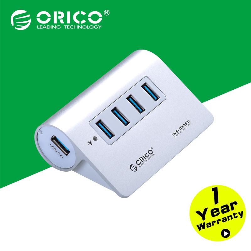 ORICO M3H4-SV Aluminum High Speed Mini 4 Port Micro USB 3.0 HUB with CE FCC Certification(China (Mainland))
