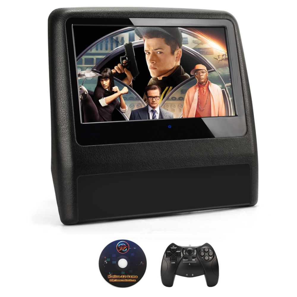 1pcs Car Headrest  DVD player 9 Touch Screen with HDMI port Universal Monitor for Opel BMW Toyota all cars <br><br>Aliexpress