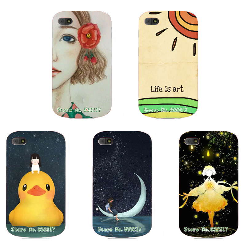 2017 Unique Design Cartoon Cute Phone Case Skin Cover White Hard Case Cover For Blackberry Q10 Case(China (Mainland))