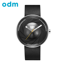 ODM Top Luxury Brand Fashion Creative Design Leather Strap Quartz Men Watch Waterproof Wristwatch DD161(China (Mainland))