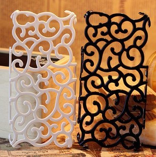 New Arrival bird nest case cover for iPhone5 5g, hollow out Flowers Plating case for iPhone 5g free shipping