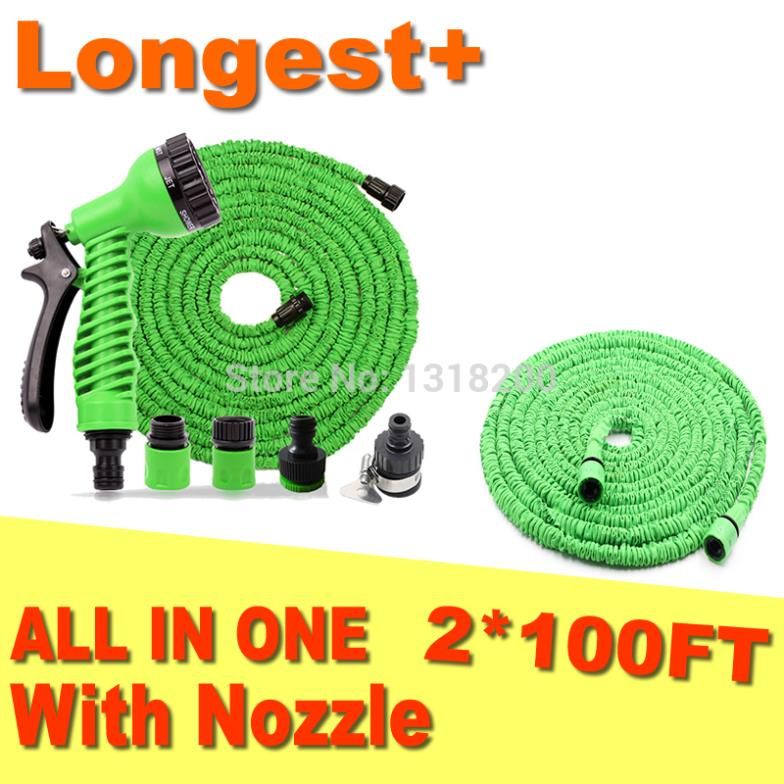 Garden Hose Free Shipping FACTORY SALE 100FT+100FT Hose ,Expandable magic Hose, super strong webbing, natural latex hose