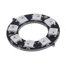 Envío de la Nueva Llegada 8-Bit WS2812 5050 RGB LED de La Lámpara Del Panel Redonda Anillo Conductor LLEVADO Placa de Desarrollo Venta Caliente