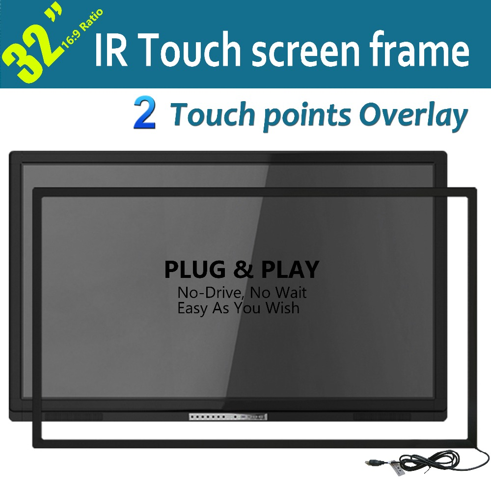 Touch Screen Kit : Free shipping low cost quot high definition dual touch