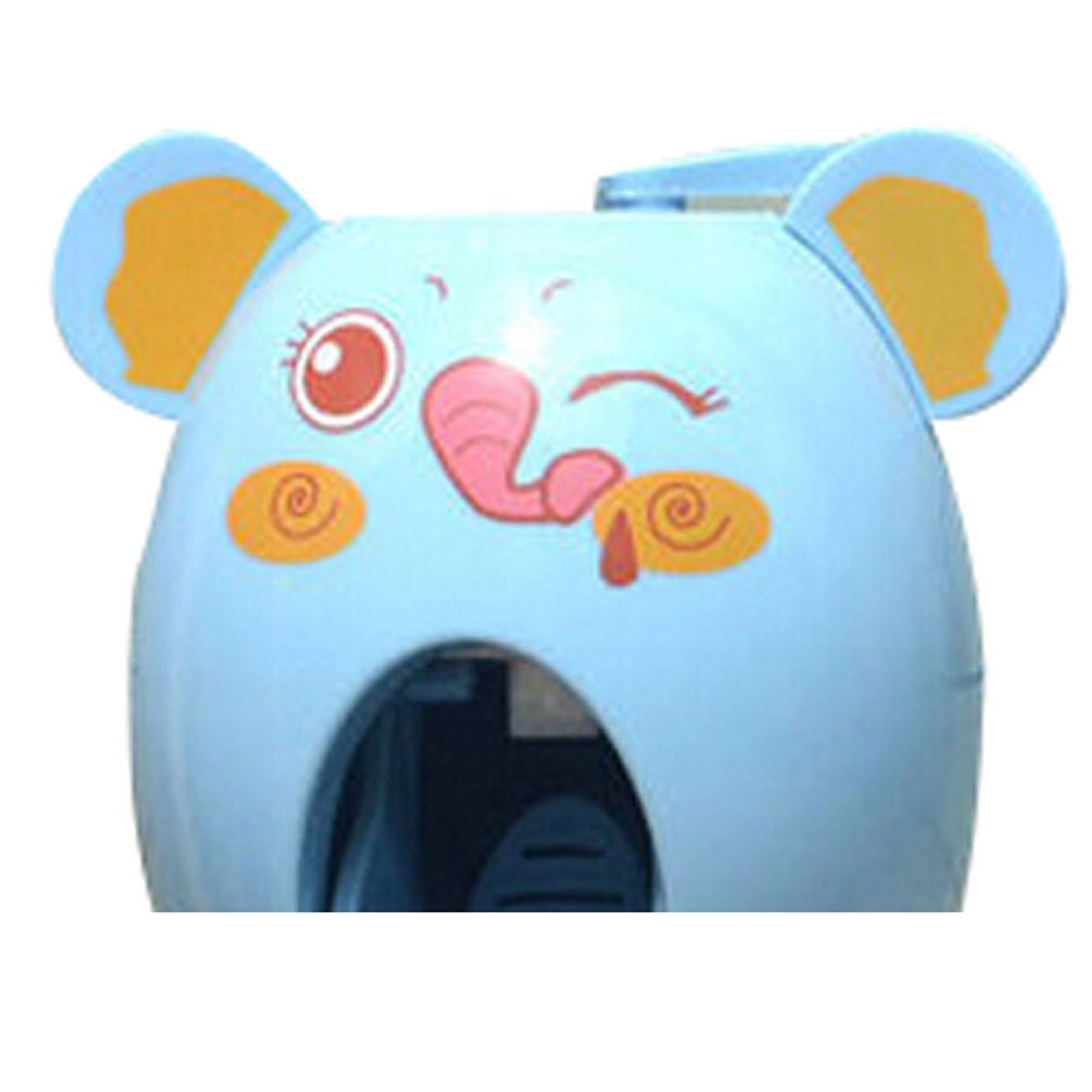 SZS Wholesale Automatic Toothpaste Dispenser Child Toothbrush Holder Good Quality-blue elephant(China (Mainland))