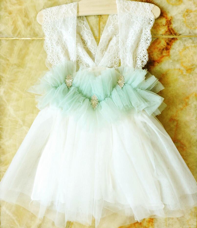 New Kids Baby Fairy Lace Dress Princess Girls Sweet Party Clothing 5 pcs/lot, Wholesale(China (Mainland))