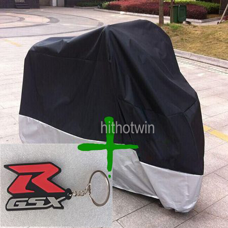 key chain+Motorcycle Cover Waterproof Outdoor Uv Protector Bike Rain Dustproof Covers for Motorcycle Motor Cover Scooter(China (Mainland))
