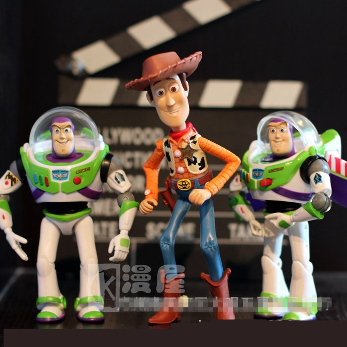 5pcs/bag TOY STORY 3 Cartoon Anime Movie Buzz Lightyear Woody Green Man Action Figures Mini Toy PVC 5-6CM Kids Toys Dolls(China (Mainland))