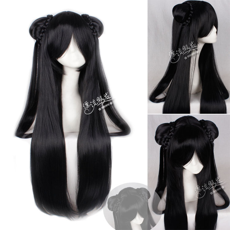 Гаджет  CSS wig costume knight errant xianjian contract awarding 80 cm straight hair black  None Изготовление под заказ