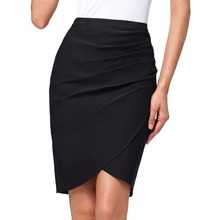 Buy Wine Black Pencil Skirt Slim Bodycon Skirts Womens Spring Summer Tight Sexy Mini Skirt High Waist Saia Pleated Plus Size Falads for $15.65 in AliExpress store