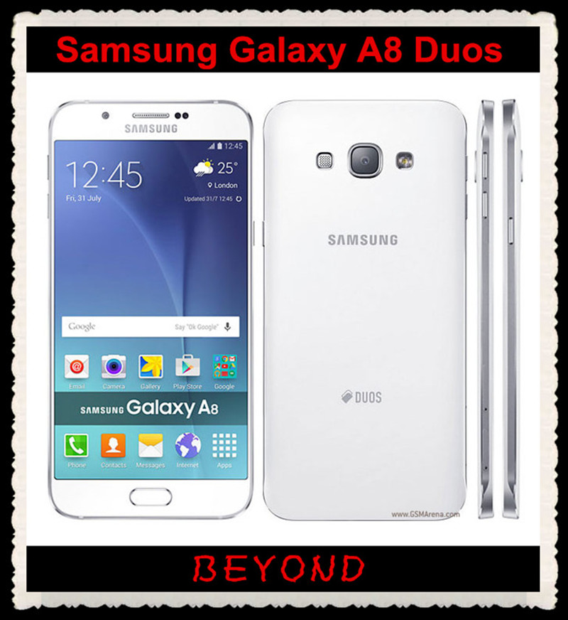 "Samsung Galaxy A8 Duos Original Unlocked 4G GSM Android Mobile Phone Octa Core A8000 Dual Sim RAM 2GB 5.7"" 16MP 16GB WIFI GPS(China (Mainland))"