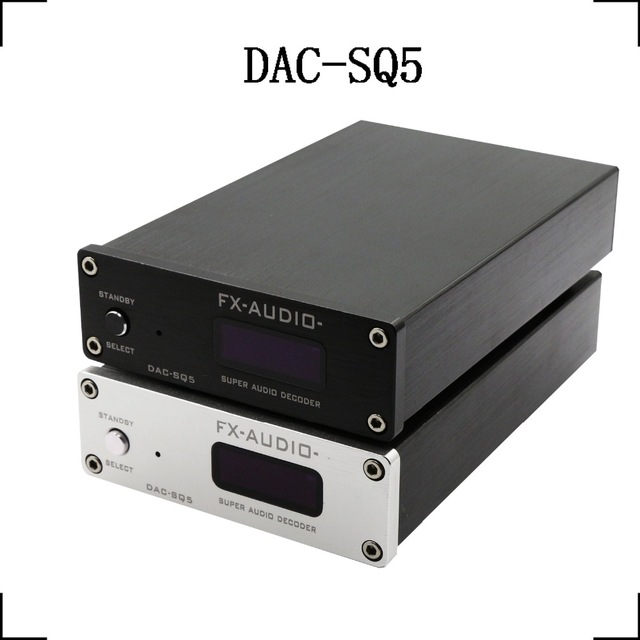 FX-Audio DAC-SQ5 HiFi 2.0 Digital Audio Decoder Input USB/Coaxial/Optical PCM1794A+AK4113+VT1729USB DC12V/1A Remote Controller(China (Mainland))